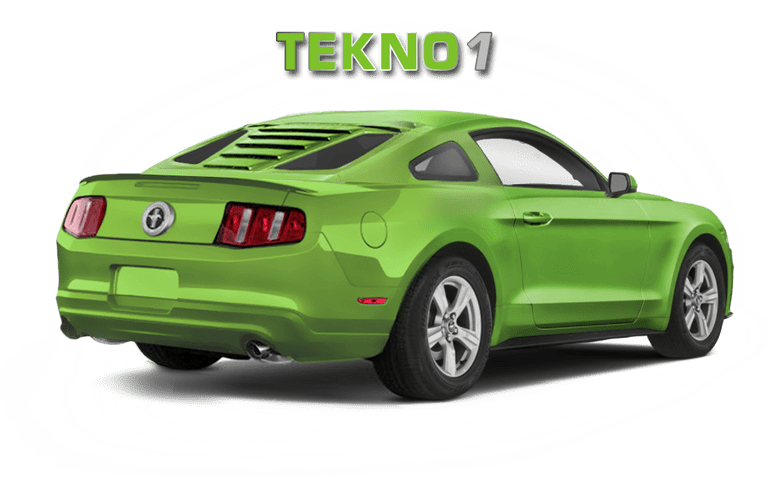 2005-14 Mustang S197 GlassSkinz Tekno 1 Rear Window Valance / Louvers